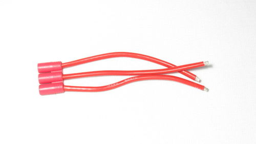 Connecteur or 3.5mm (3pins) Male câble silicone 14AWG 10cm GF-1065-002