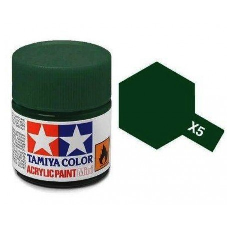 Vert brillant pot acrylique 10 ml Tamiya X-5